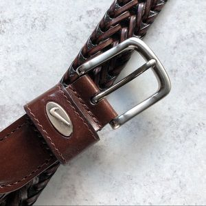 Nike Golf Brown Leather Belt. Size 40